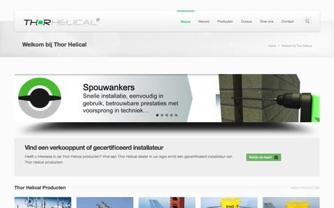 Screenshot of Home Page Privacy Page Site Map Page thorhelical.nl - Welkom bij Thor Helical - Thor Helical - captured Oct. 9, 2014