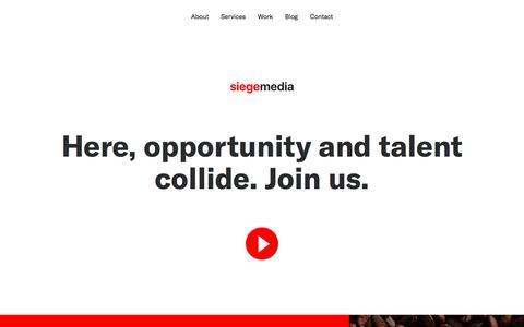 Screenshot of Jobs Page siegemedia.com - Careers at Siege Media - captured Sept. 26, 2018