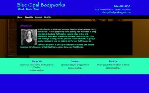 Screenshot of About Page blueopalbodyworks.com - About Us | Blue Opal Bodyworks - captured Jan. 6, 2016