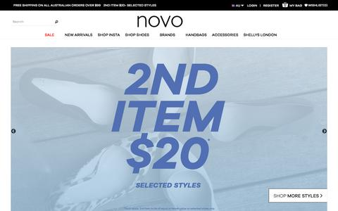 Screenshot of Home Page novoshoes.com.au - Buy Women's Shoes Online   Women's Shoes Australia   Novo Shoes - captured Sept. 22, 2018