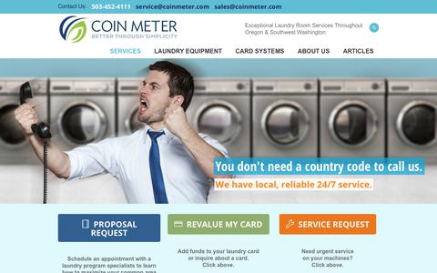 Screenshot of Services Page coinmeter.com - Commercial Laundry Service & Maintenance | Coin Meter - captured Aug. 10, 2017