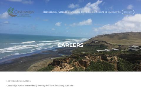Screenshot of Jobs Page castaways.co.nz - Careers at Castaways Resort — Castaways Resort - Luxury accommodation - captured Nov. 26, 2018
