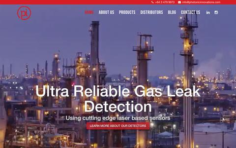 Screenshot of Home Page photonicinnovations.com - High Fidelity Gas Leak Detectors | Buy Laser Based Gas Leak Detectors In Australia, New Zealand, USA | Photonicinnovations - captured Dec. 14, 2018
