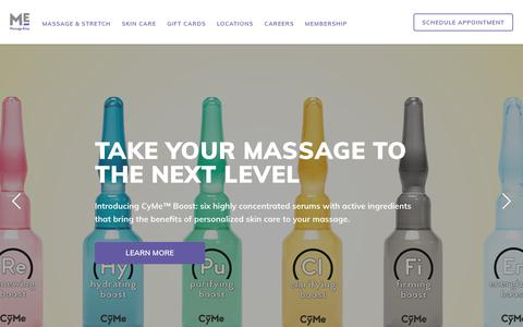 Screenshot of Home Page massageenvy.com - Professional Massage Therapy & Facials - captured July 3, 2018
