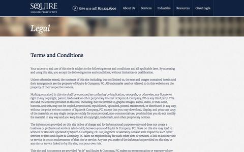 Screenshot of Terms Page squire.com - Legal | Squire - captured Oct. 24, 2017