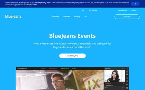 Host Large Virtual Events With Video | BlueJeans Events