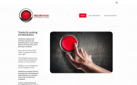 Screenshot of Home Page redbuttonconsulting.com - Red Button Consulting - Home - captured Oct. 7, 2014