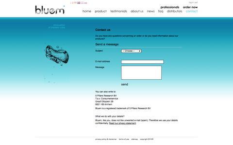 Screenshot of Contact Page bluemcare.com - Contact - bluem - captured Sept. 30, 2014
