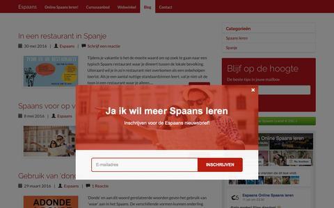 Screenshot of Blog espaans.nl - Espaans - Blog - captured July 14, 2016