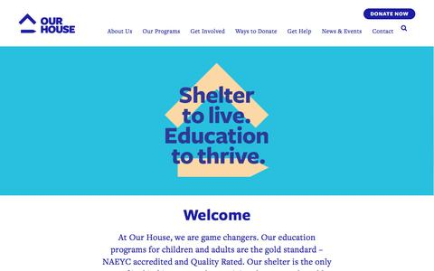 Screenshot of Home Page ourhousega.org - Our House - Our House - captured Nov. 30, 2016