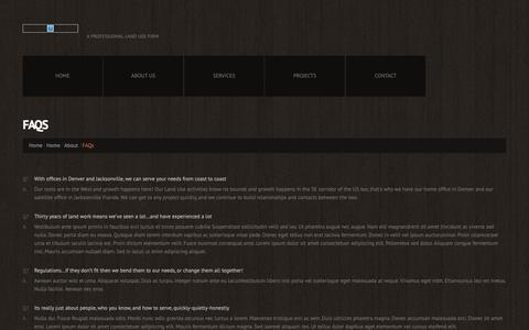 Screenshot of FAQ Page jameskaro.com - FAQs  |  james c karo associates - captured Oct. 14, 2018