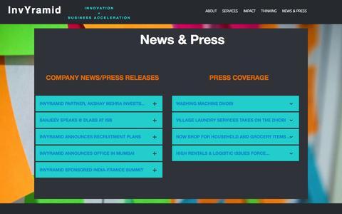 Screenshot of Press Page invyramid.com - InvYramid   Company Press Releases & Media Coverage - captured Sept. 30, 2014