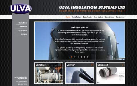 Screenshot of Home Page ulva.co.uk - ULVA Insulation Systems Ltd - Home - captured Feb. 2, 2016
