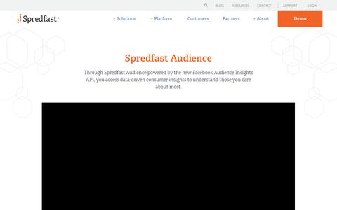 Screenshot of spredfast.com - Spredfast Audience | Spredfast - captured Aug. 24, 2017