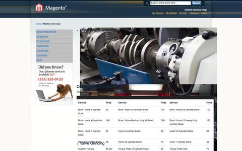 Screenshot of Services Page cleggengine.com - Machine Services - captured Jan. 28, 2016