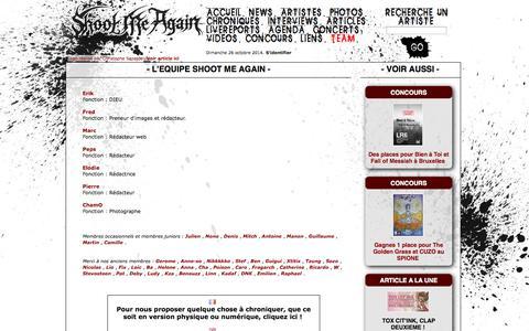 Screenshot of Team Page shootmeagain.com - Membres   Shoot Me Again Webzine - captured Oct. 26, 2014