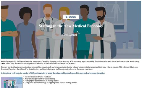Screenshot of Landing Page carecloud.com - CareCloud | Healthcare Data Migration Ebook - captured Feb. 6, 2019