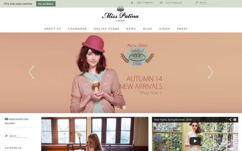 Screenshot of Home Page misspatina.com - Miss Patina - Vintage Inspired Fashion - captured Sept. 25, 2014