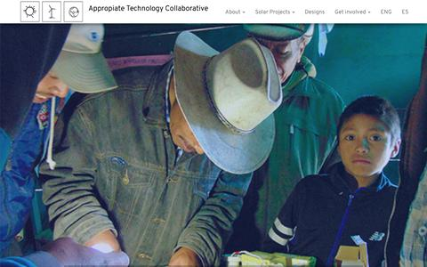 Screenshot of Home Page apptechdesign.org - - Appropiate Technology Collaborative - captured Oct. 4, 2018