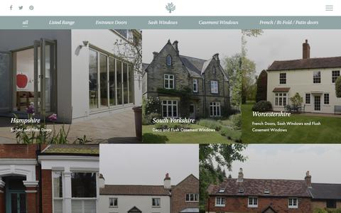 Screenshot of Case Studies Page timberwindows.com - Case Studies | New timber doors and windows | Timber Windows - captured Sept. 21, 2018