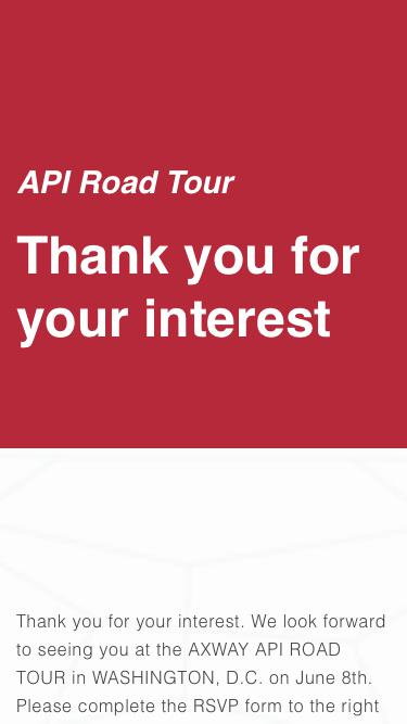 API Road Tour