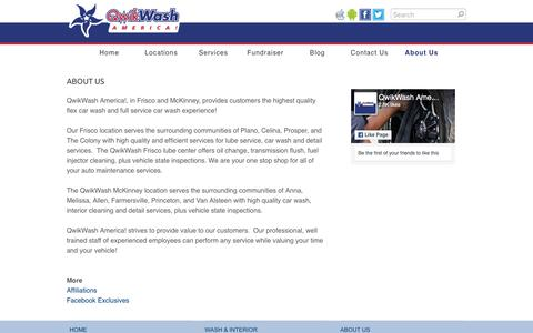 Screenshot of About Page qwikwash.com - About Us - QwikWash America! - captured Sept. 22, 2018