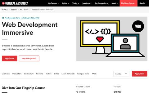 Become a Web Developer in Seattle - Web Development Course | General Assembly