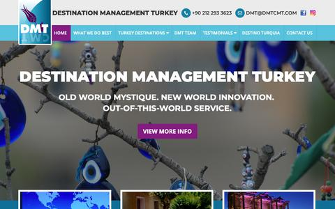 Screenshot of Home Page dmtcmt.com - DMTCMT - INCENTIVES, MEETINGS, GROUP TOURS TO TURKEY - captured Oct. 7, 2018