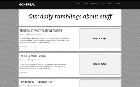 Screenshot of Blog rancorstudios.com - Montreal Responsive HTML Template - captured Dec. 19, 2016