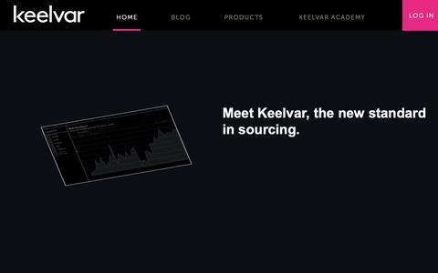 Screenshot of Home Page keelvar.com - Home - Keelvar Sourcing Optimization and Automation Software - captured Sept. 30, 2018