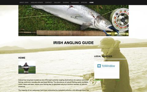 Screenshot of Home Page irishanglingguide.ie - irish Angling Guide - captured Oct. 6, 2014