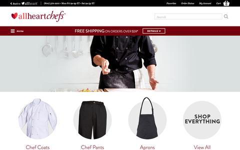 Screenshot of Contact Page allheart.com - Chef Uniforms & Kitchen Supplies | allheartchefs - captured Nov. 21, 2018