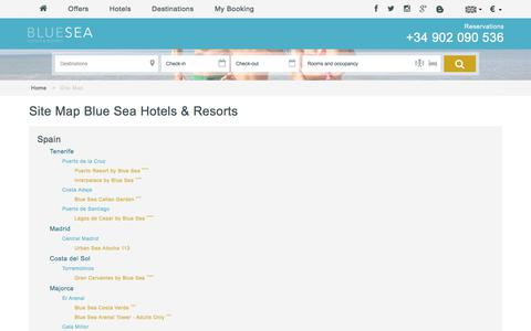 Screenshot of Site Map Page blueseahotels.com - Site Map - Blue Sea Hotels & Resorts - captured June 1, 2017