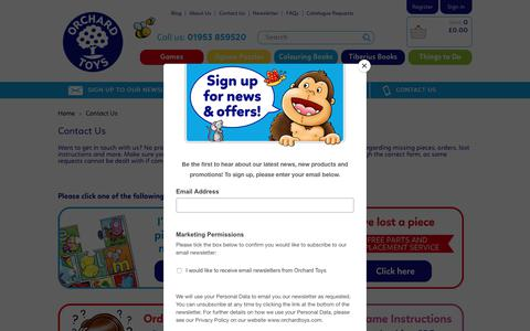 Screenshot of Contact Page orchardtoys.com - Contact Us | Orchard Toys - captured Oct. 19, 2018
