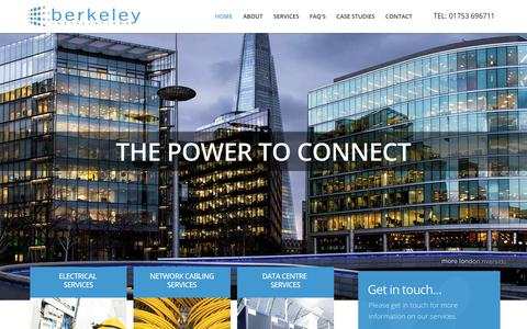 Screenshot of Home Page berkeley-installations.com - Network Cabling & Electrical Installations - Berkeley Installations - captured Oct. 10, 2017