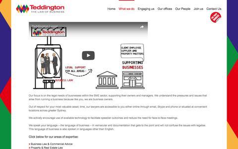 What Teddington Legal Services do | Sydney | NSW | Australia |