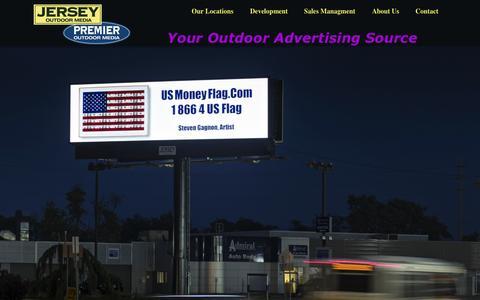 Screenshot of Home Page jerseyoutdoor.com - Jersey Outdoor - captured Jan. 25, 2015