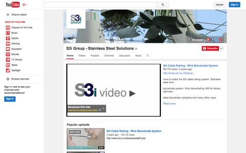 Screenshot of YouTube Page youtube.com - S3i Group - Stainless Steel Solutions  - YouTube - captured Oct. 26, 2014