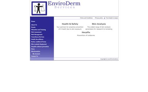 Screenshot of About Page enviroderm.co.uk - Enviroderm Services - The Best in Skin Management and Skin Analysis - captured Oct. 3, 2014