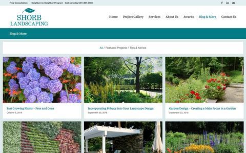 Screenshot of Blog shorblandscaping.com - Shorb Landscaping Blog and Landscaping Tips and Advice - captured Nov. 27, 2016