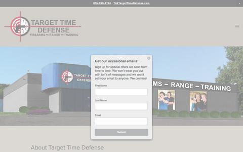 Screenshot of About Page targettimedefense.com - About Target Time Defense | Shooting Range - Firearms Store - captured Dec. 12, 2016