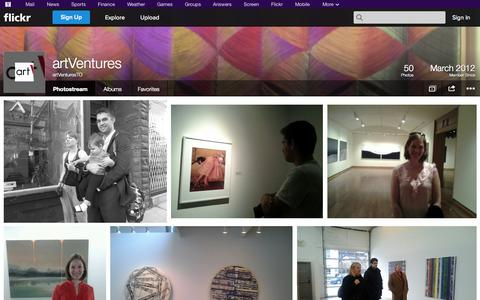 Screenshot of Flickr Page flickr.com - Flickr: artVenturesTO's Photostream - captured Oct. 23, 2014