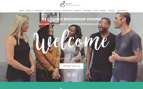 Screenshot of Home Page c3bd.com - Home - C3 Church Bridgeman Downs - captured July 1, 2018