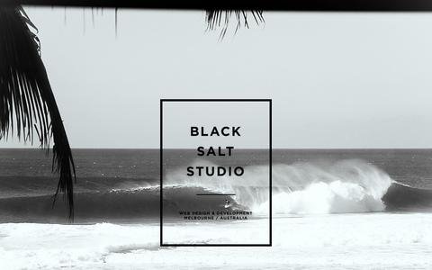 Screenshot of Home Page blacksaltstudio.com - Black Salt Studio | Web Design & Development | Melbourne, Australia - captured Jan. 28, 2015
