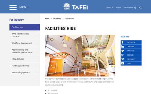 Facilities hire - TAFE