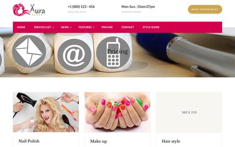 Screenshot of Pricing Page logodesignro.ro - Beauty Salon | Bootstrap | Free Responsive Website Templates - captured July 22, 2018