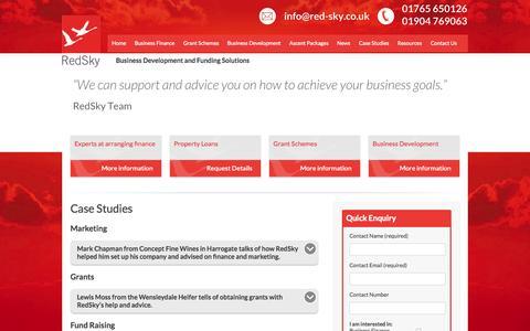 Screenshot of Case Studies Page red-sky.co.uk - Case Studies | RedSky - captured Oct. 26, 2014