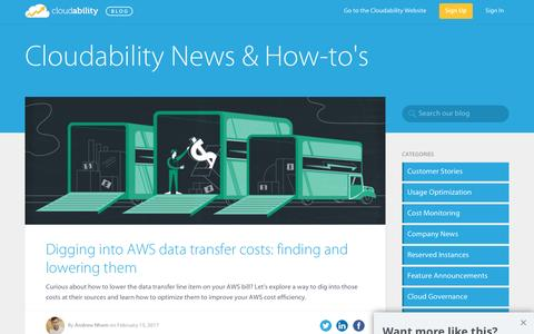 Cloudability Blog - Cloud Cost and Usage Management Blog