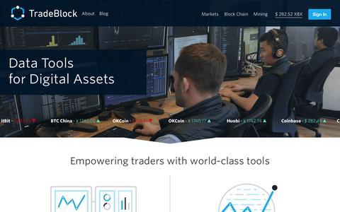 Screenshot of Home Page tradeblock.com - TradeBlock - captured Aug. 2, 2015