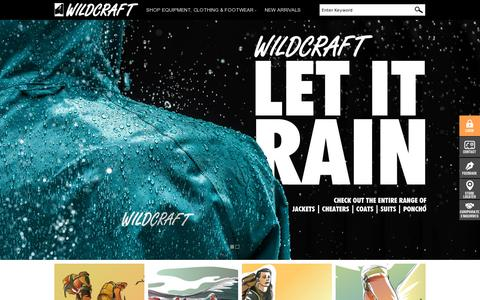 Screenshot of Home Page wildcraft.in - Wildcraft.in | Backpacks, Rucksacks, Jackets, Duffles, Thermals, Wallets, Waist Pouches | Wildcraft Online Store - captured July 10, 2014